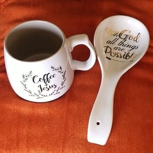 Coffee Mug and Spoon Rest